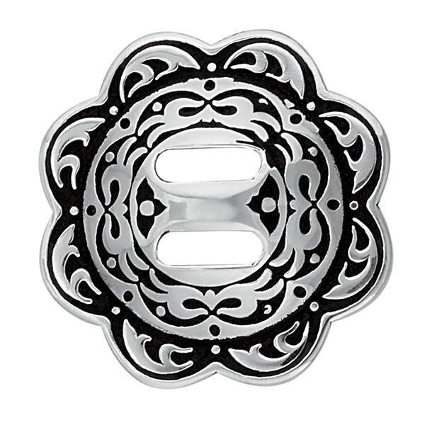 Jeremiah Watt ~ Engraved Floral Concho