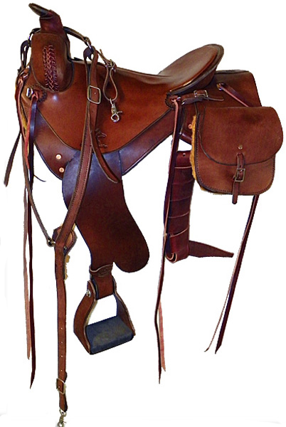 Custom Saddle with Breast Collar and Saddle Bags
