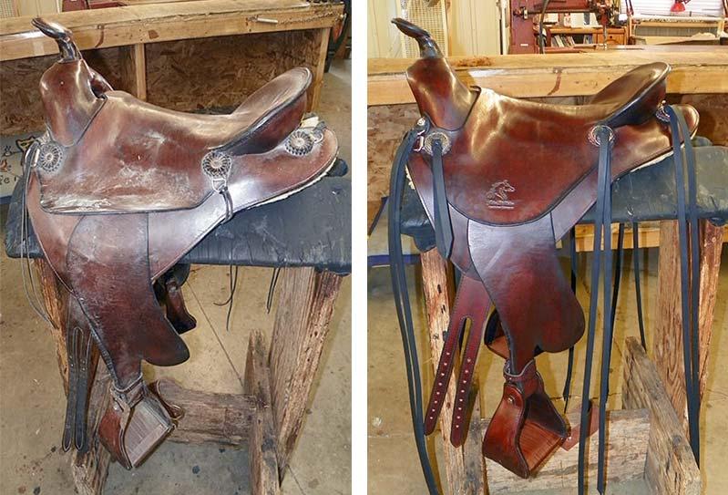 Restored saddle finished.