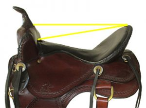 Saddle seat size for the rider.