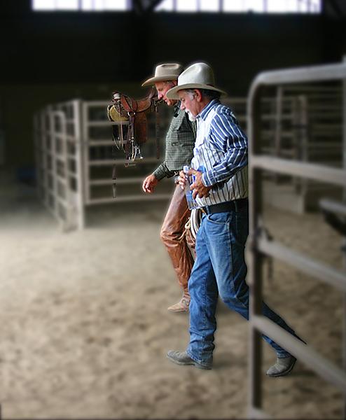 Dennis and Buck Brannaman