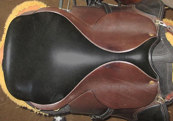 Twist in an English saddle.