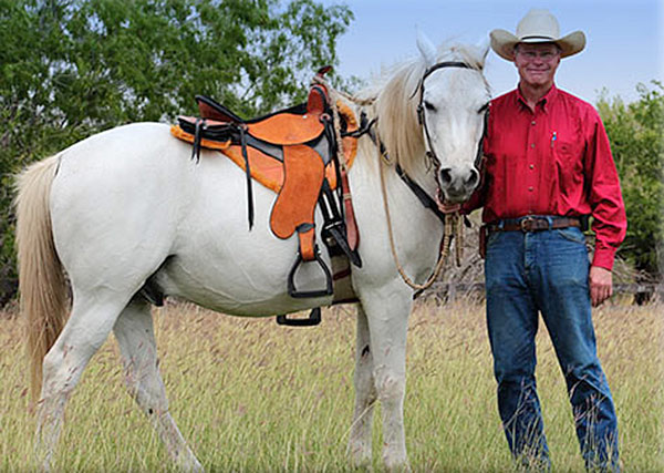 Roger T with his light weight trail saddles