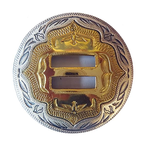 Tandy ~ Silver with Brass Concho