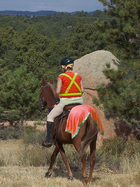 Joy ready for riding in hunting season